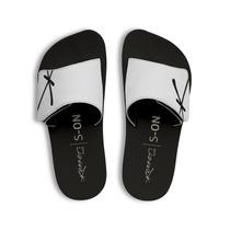 Chinelo Kenner Kivah Couro Preto E Branco Velcro Original