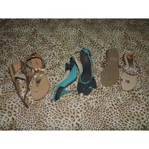 Lote De 3 Sapatos Femininos Em Excelente Estado