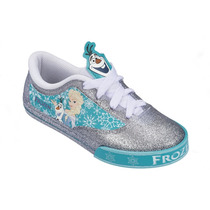 Tênis Frozen Encantada Disney Azul Prta Olaf Elsa Anna
