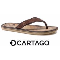 Chinelo Grendene Cartago Maiorca Dedo Casual Marrom/beje