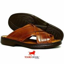 Sandalia Melhor Idade Fina E Classica Couro Conforto Extremo
