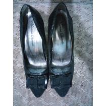Sapato Scarpin Meia Pata Camurça Tamanho 37