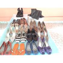 Lote De 20 Calçados Feminino Diversos Usados