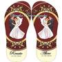 Kit 25 Pares De Chinelos Sandálias Personalizados Casamentos