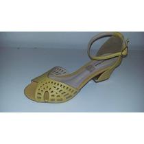 Sandália Em Couro Salto Bx Prima Donna Cod.237m1989