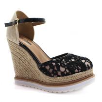Sandália Espadrille Anabela Zariff Shoes Flatform | Zariff