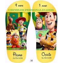 Chinelos Personalizados Aniversário Toy Story 30 Pares