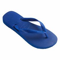 Chinelo Havaianas Top Azul/preto Novo Original Tuccacalçados