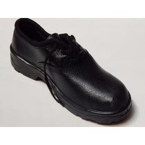 Botina/ Sapato De Segurança Vj Pu C/ Cadarço Sem Bico De Aço
