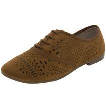 Sapato Feminino Oxford Camel - 4150101 Beira Rio Clóvis C