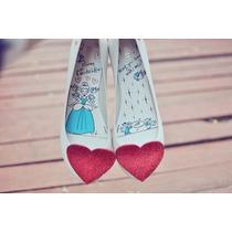 Melissa Ultragirl Sweet Love + Disney Branco Novo Original