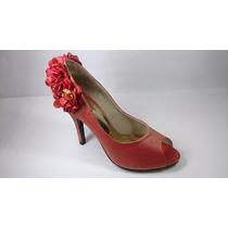 Sapato Peep Toe Feminino Social Goiaba- Biazzi (salto 10cm)