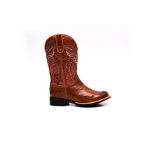 Bota Texana Avestruz Country-western-hoper Couro Legitimo