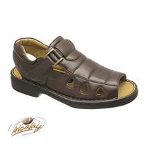 Alcalay Calçados Masculino - Sandália Relax 770p Preto E...