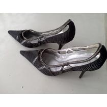 Sapato Preto Drapeado Com Brilhantes Tam 35 Seculo Xxx
