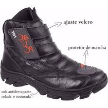 Motoqueiro,motociclista,bota Cano Alto 100% Couro Ref Th1