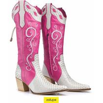 Bota Texana Anaconda Rosa Country Capelli Boots Ref. 3083