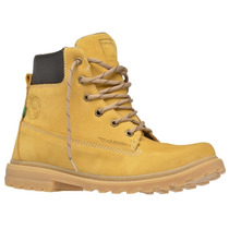 Bota Coturno Boot Worker Adventure Amarela Couro Ferrarello