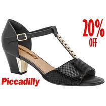 20% Off Sandália Social Piccadilly Preto Conforto 542029