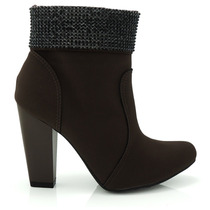 Bota Ankle Boot Via Marte 146151 - Olfer Calçados