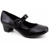 Sapato Feminino Boneca Couro Código Cem 69-525 Loja Pixolé