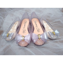 Sapatilha Cinderella Cinderela Kit Mãe E Filha 2 Sapatos