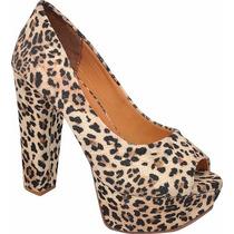 Sapato Salto Plataforma Onça 625-16 - Chiquiteira Outlet