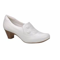 Sapato Branco Feminino De Couro - Neftali -enfermagem - 4707