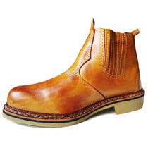 Sapato Bota Botina Cano Curto Wrangler Sola Latex 100% Couro