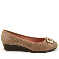 Sapato Anabela Moleca 5156424 - Bege.