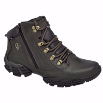 Coturno Adventure Couro Oregon Gogowear Café Estilo Macboot