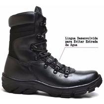 Bota Militar Coturno Tático Bope Masculino E Feminino Couro