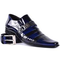 Sapato Social Masculino Kit Sapato+cinto Combina Terno Slim
