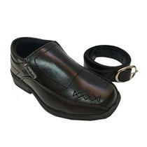 Sapato Social Preto Infantil Brinde Cinto 005.01 Maico Shoes