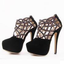 Lindo Sapato Feminino Salto Alto Muito Moderno Frete Grátis