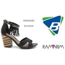 Sandalia Ramarim Ref-1441205 Preto Promoção