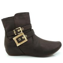 Bota Ankle Boot Comfortflex 1591301 Marrom - Olfer Calçados