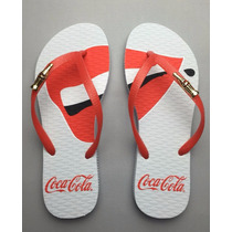 Sandalia Coca Cola ® 100 Anos Smile Cc2116 Novo