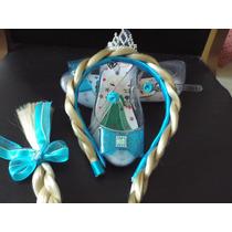 Kit Sapatilha Frozen Elsa Infantil +tiara Com Trança Oferta