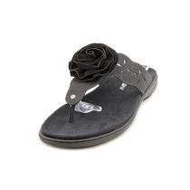 Trotters Teddie Mulheres N / S Couro Thong Sandal