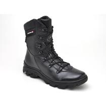 Bota Coturno Em Couro Militar Moto Policia Bope Atron Shoes