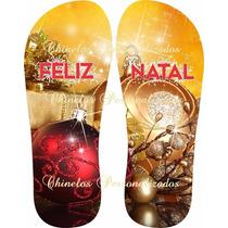Kit 30 Chinelos Sandálias Personalizados Feliz Natal