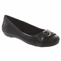 Sapatilha Strass Couro Dakota Sapato Feminino Leve B2871