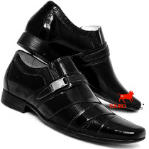 Sapato Social Barato Para Noivos, Verniz Alta Costura Brilho