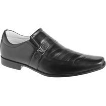 Sapato Social De Pelica Forrado Em Couro Palmilha Gel 33