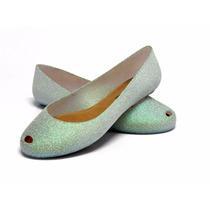 Sapatilhas Confortáveis Glitter Estilo Melissa
