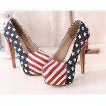 Sapato Bandeira Estados Unidos Da América Importado
