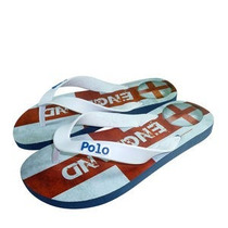 Polo Shoes Chinelo Branco & Azul 41-42 Temos Outras Marcas