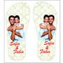 Chinelos / Sandálias Personalizadas Com Foto Para Casamento
