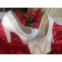 Sapatos De Noiva Decorados A Mão
